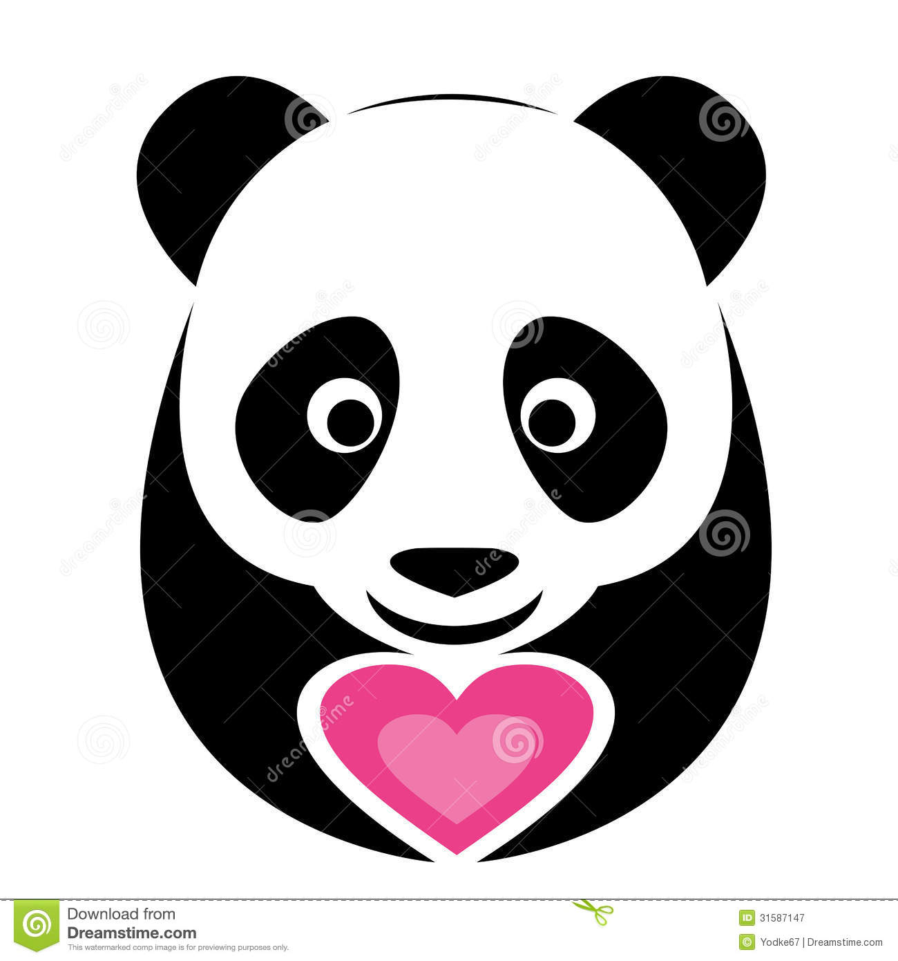 Vector Image Of An Panda Royalty Free Stock Photography - Image ...