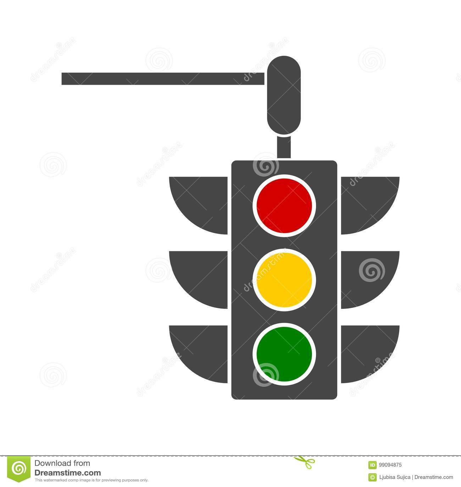 Vector Image Traffic Light, Vector Icon Design