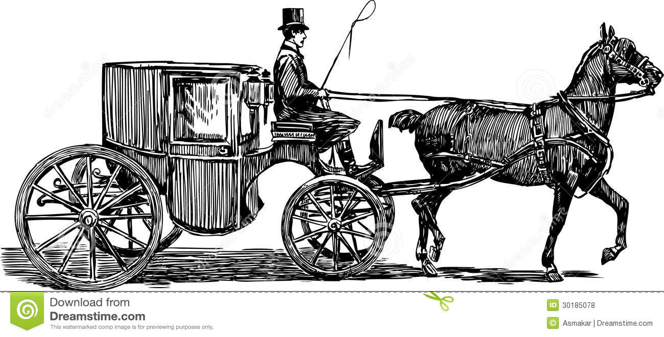 Horse Carriage Stock Vector Illustration Of Eyelids 30185078