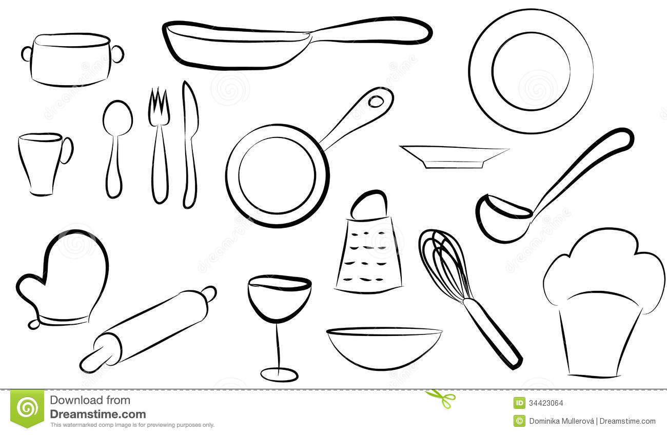 Ragout cartoons illustrations vector stock images 12 for Kitchen set vector