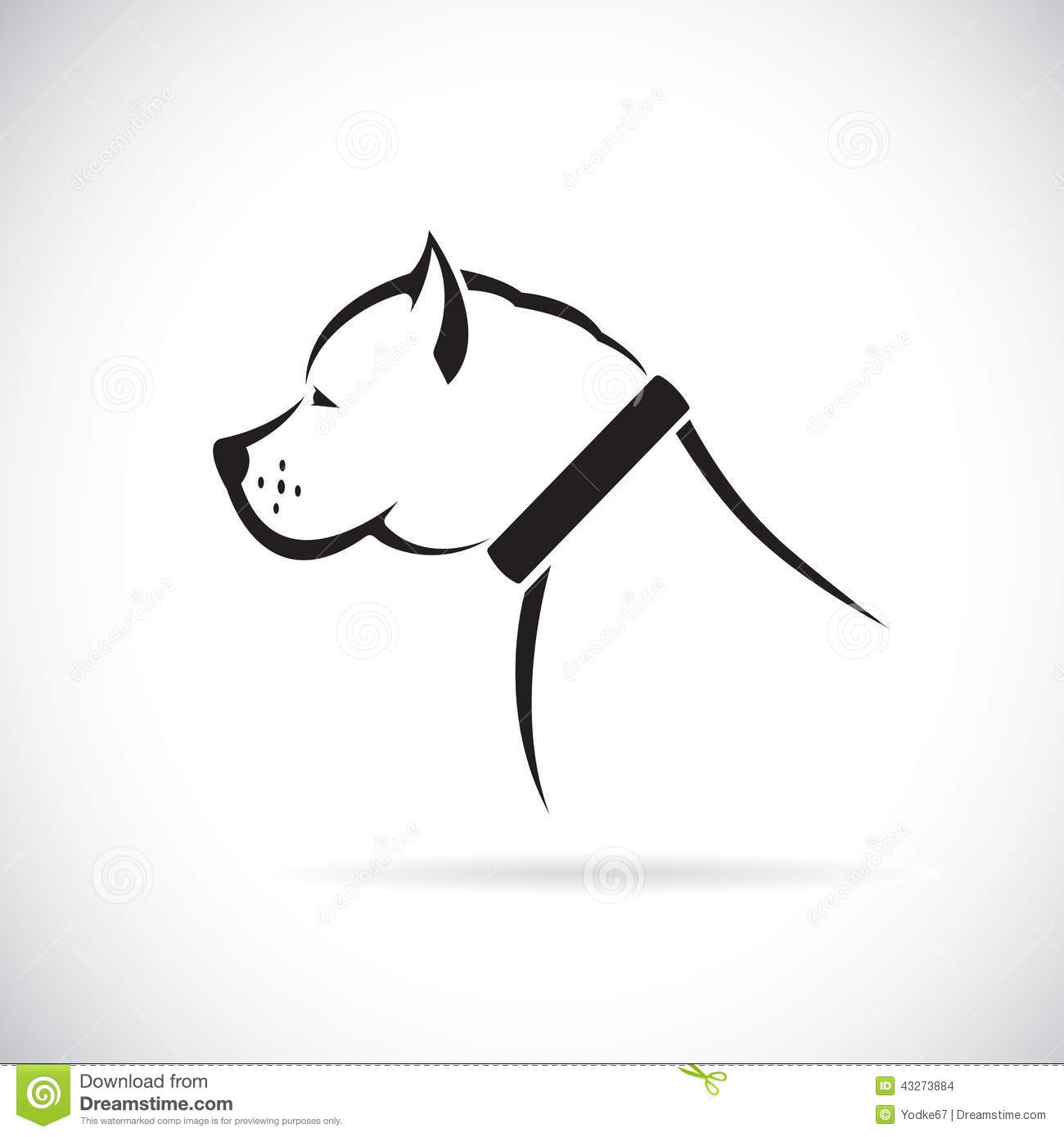 Vector Images Of Pitbull Dog Stock Vector - Image: 43273884 - photo#39