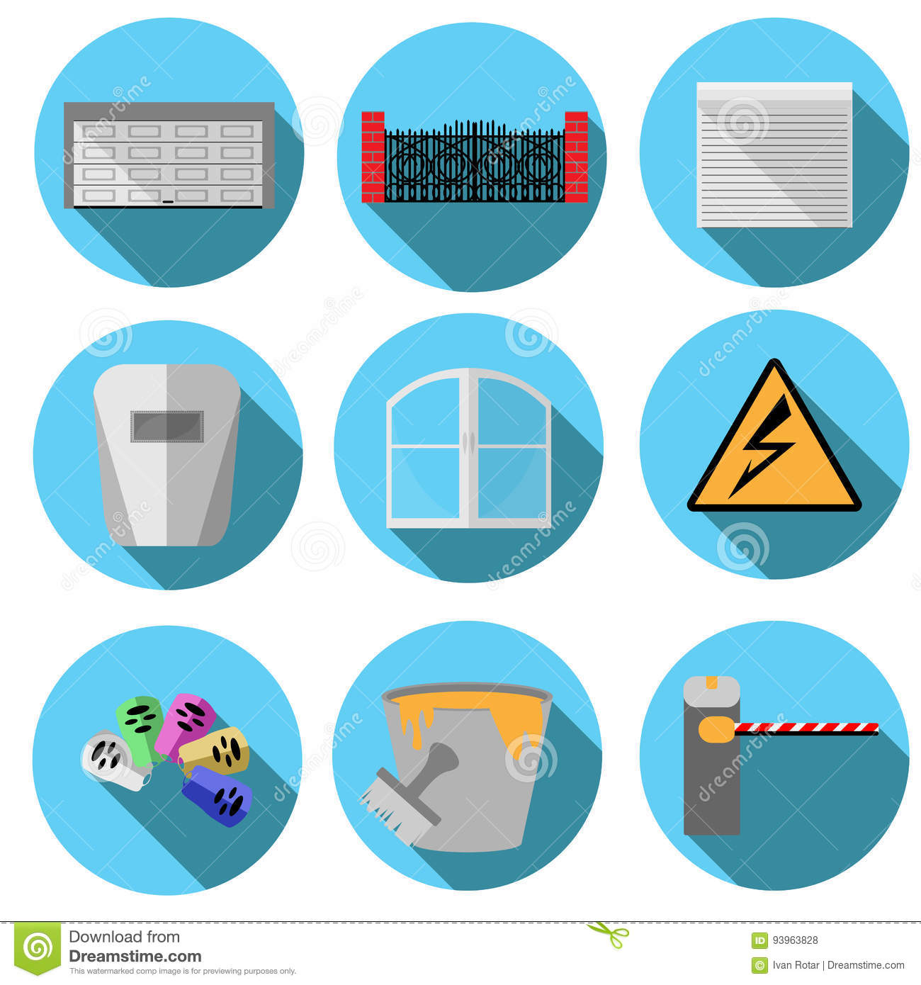 Vector images related to construction