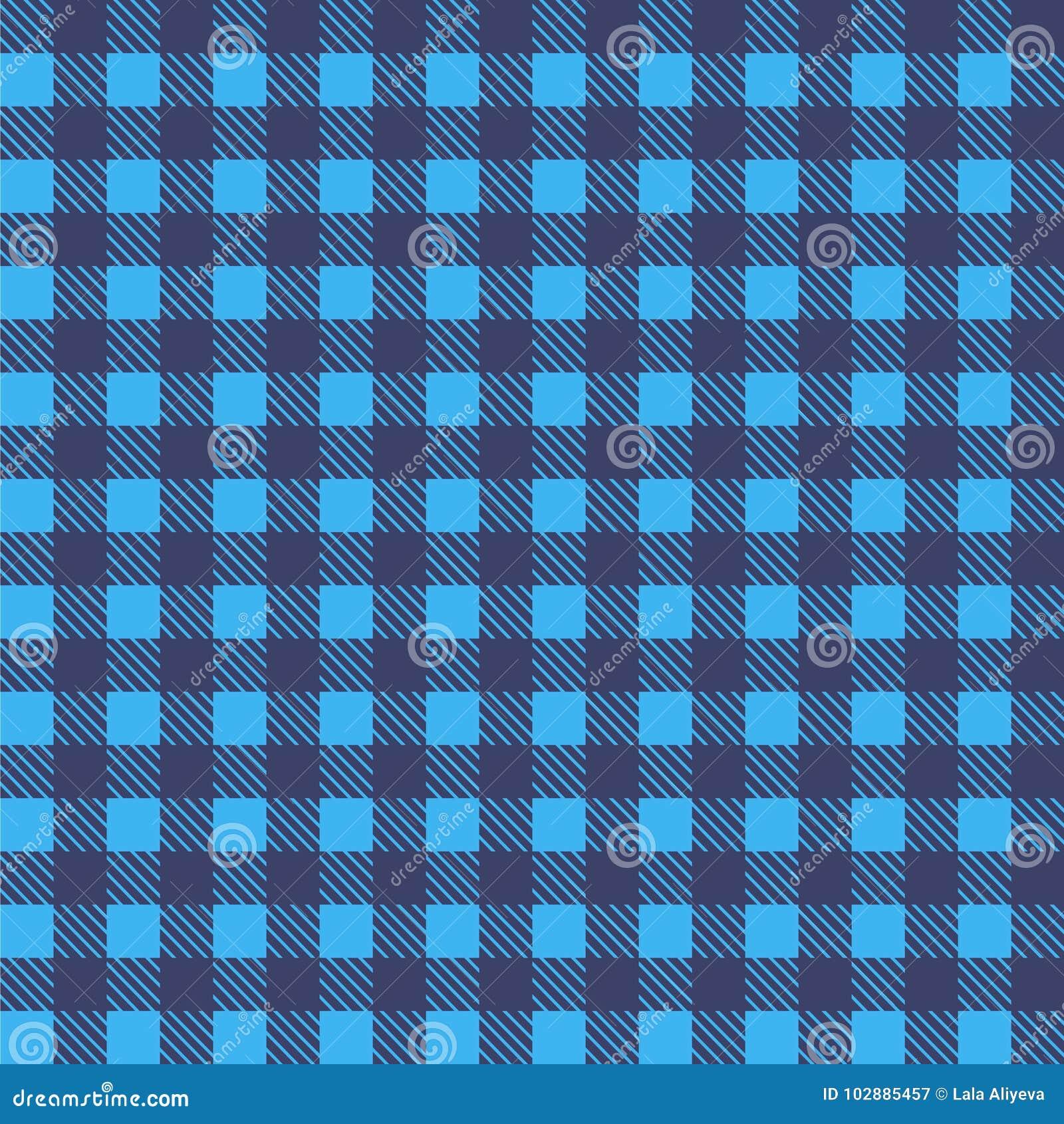 Vector inconsútil azul del mantel Color de Airy Blue y de la orilla Vector tradicional inconsútil del modelo del mantel Color azu