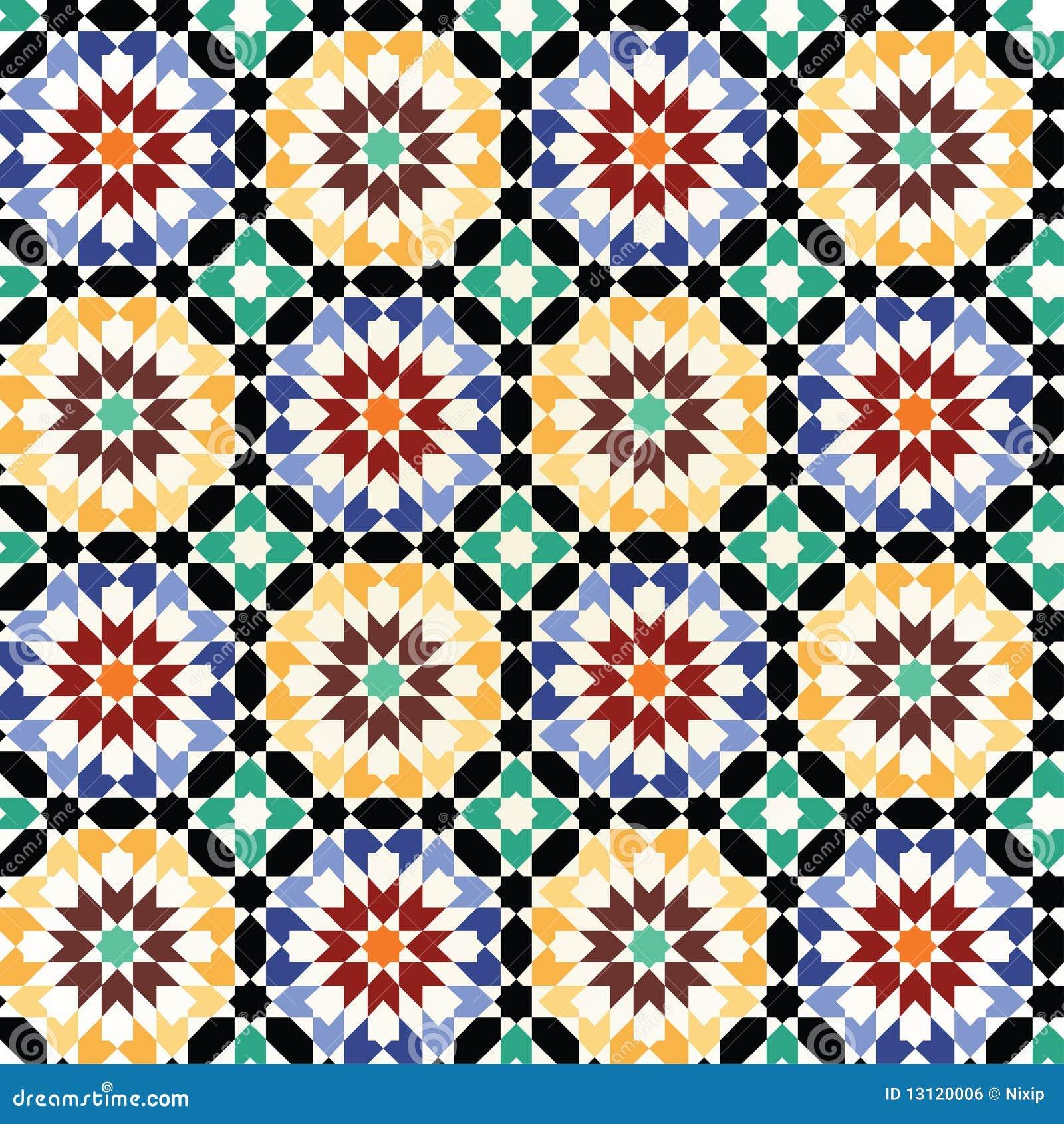 Vector inconsútil del modelo del azulejo de mosaico