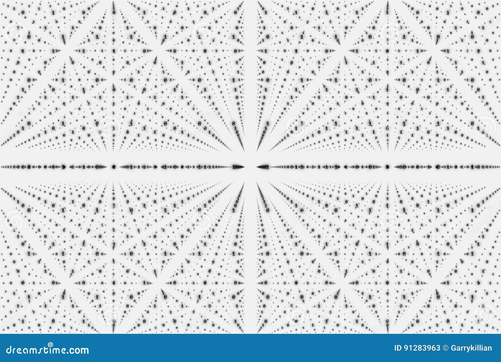 vector infinity data matrix visualization  grayscale big