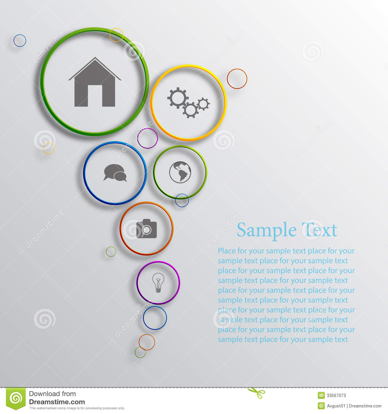 Vector Infographic Background Design Stock Illustration ...