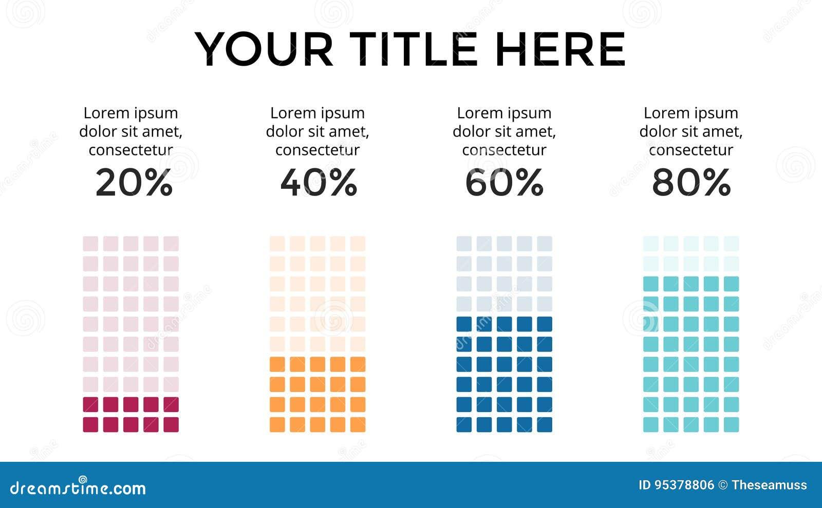 Vector infographic, carta do diagrama, apresentação do gráfico Molde do negócio com 4 opções, peças, etapas, processos 16x9