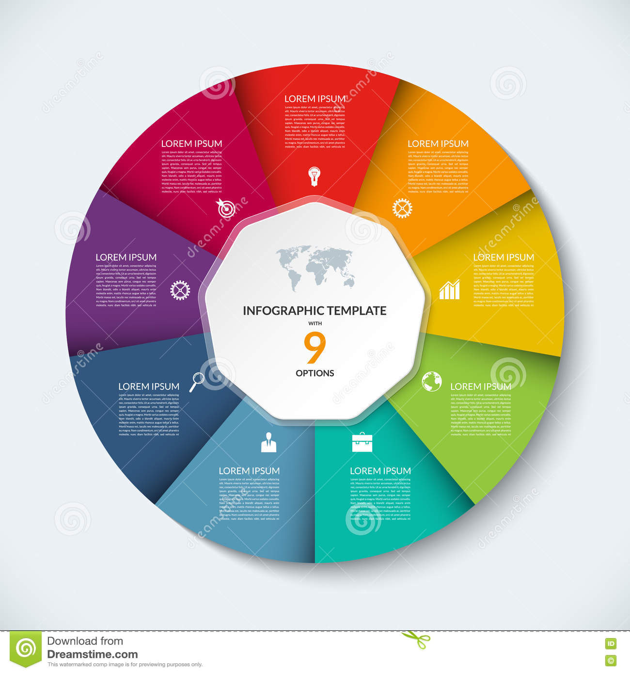 Vector infographic circle template business concept with 9 options vector infographic circle template business concept with 9 options cheaphphosting Choice Image