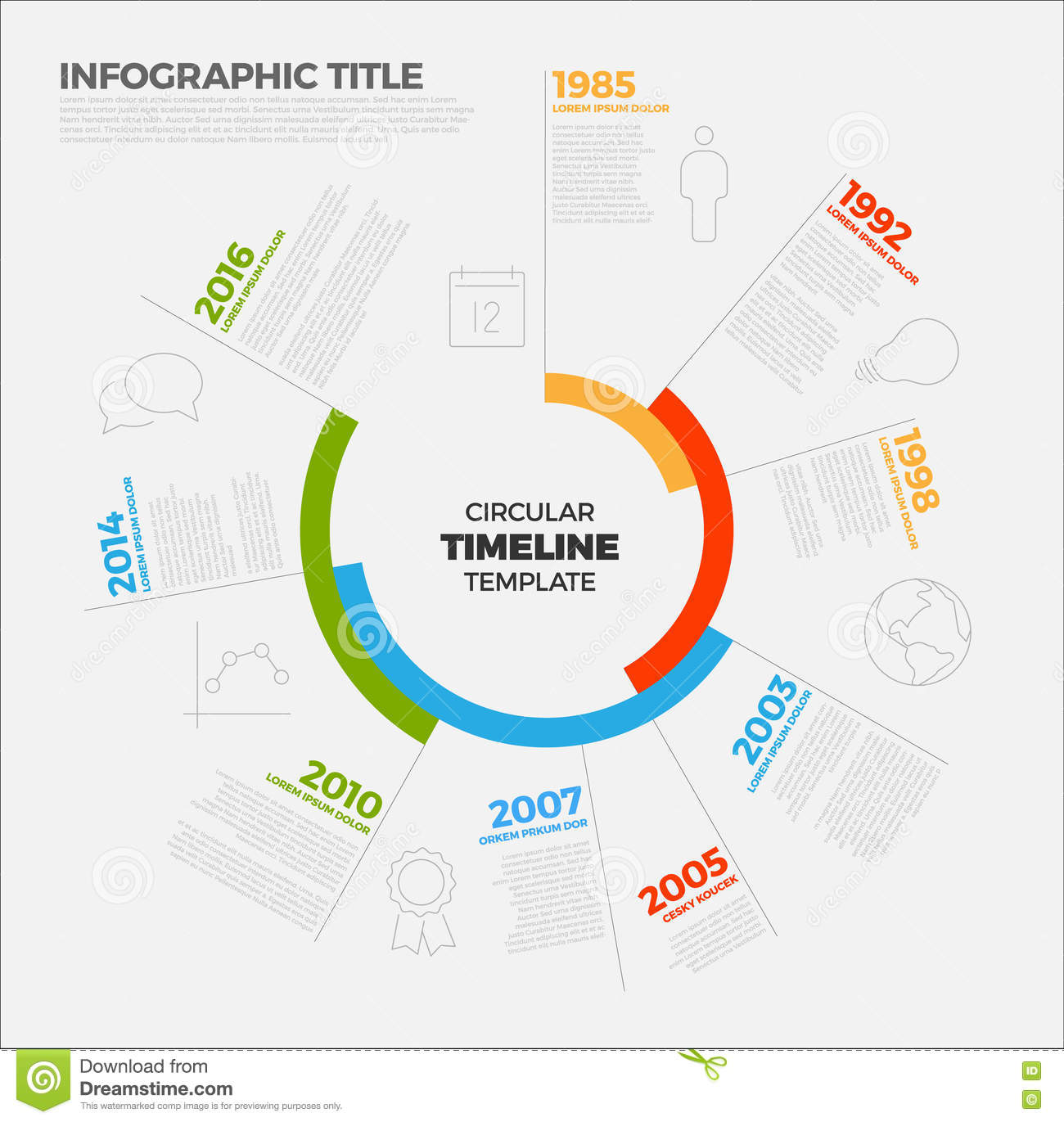 Vector Infographic Circular Timeline Report Template Stock Vector ...