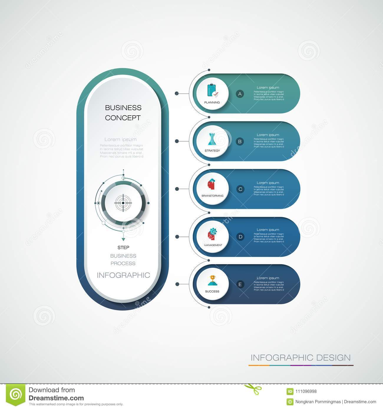 vector infographic 3d circle label template design stock vector