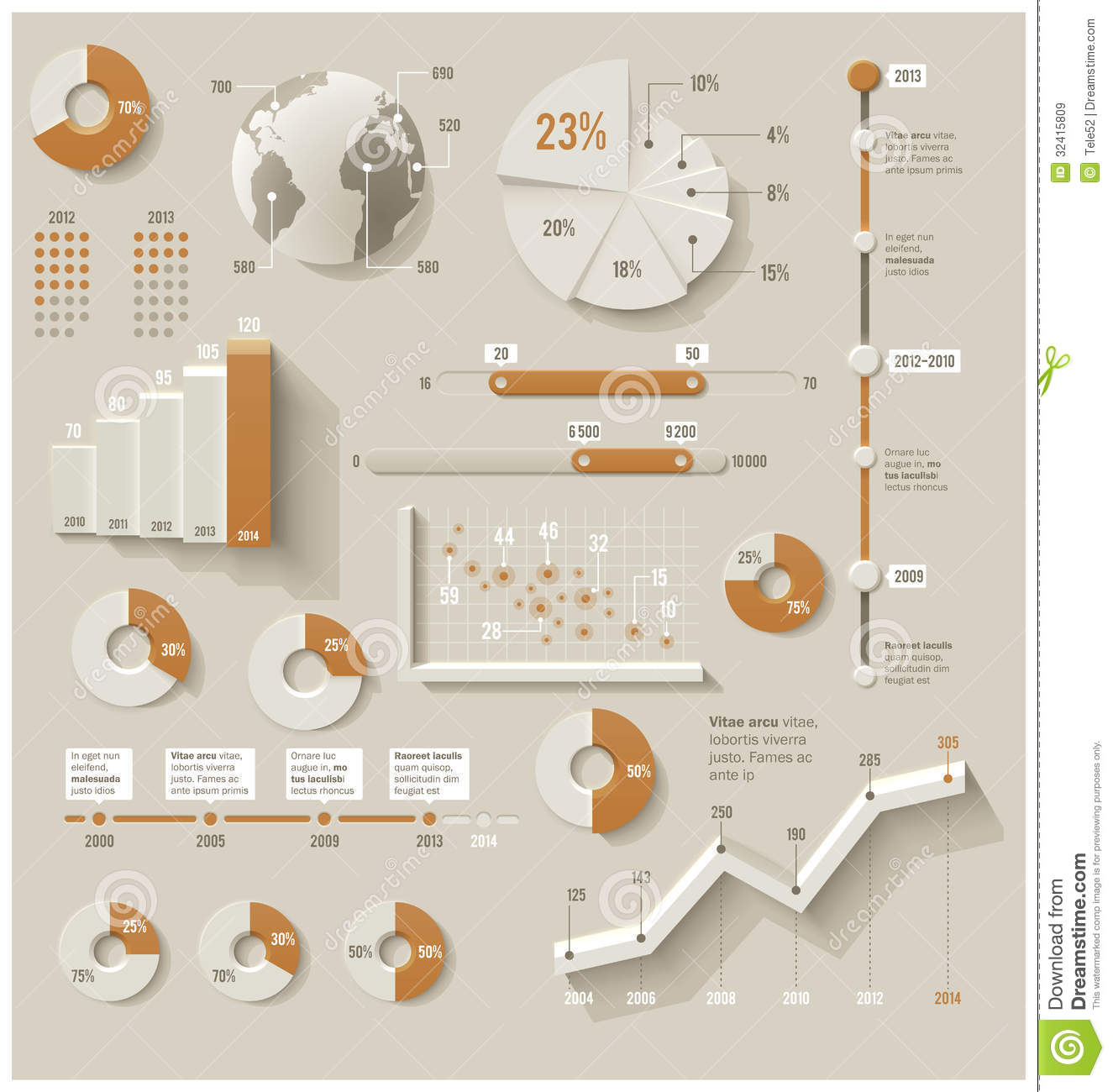 Vector Infographic Elements Stock Vector - Illustration of ...