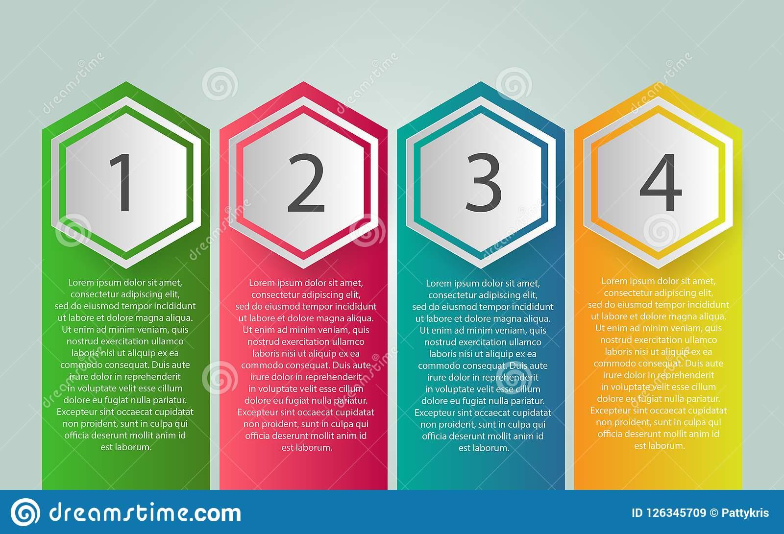 Vector Infographic label design with icons and 4 options or step