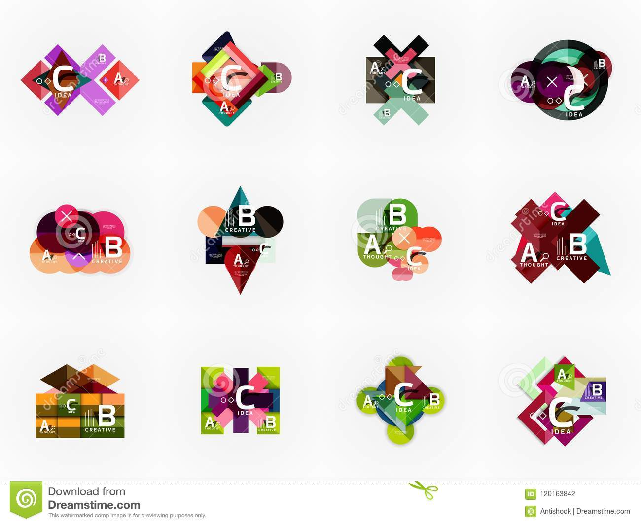 Vector Infographic Options Banner Set Paper Style Design Stock Step Diagram For Mario Illustration Workflow Layout Number Up Web Concept Templates