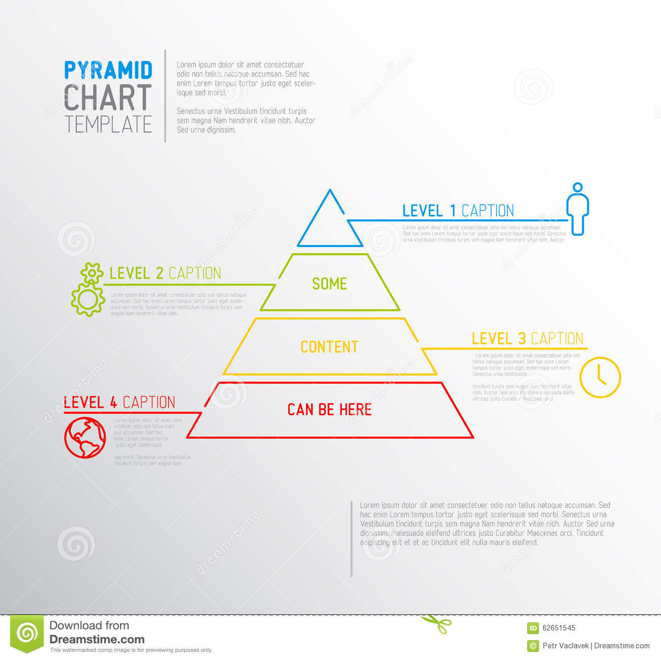 Vector infographic pyramid chart diagram template stock vector download vector infographic pyramid chart diagram template stock vector illustration of design flat ccuart Images