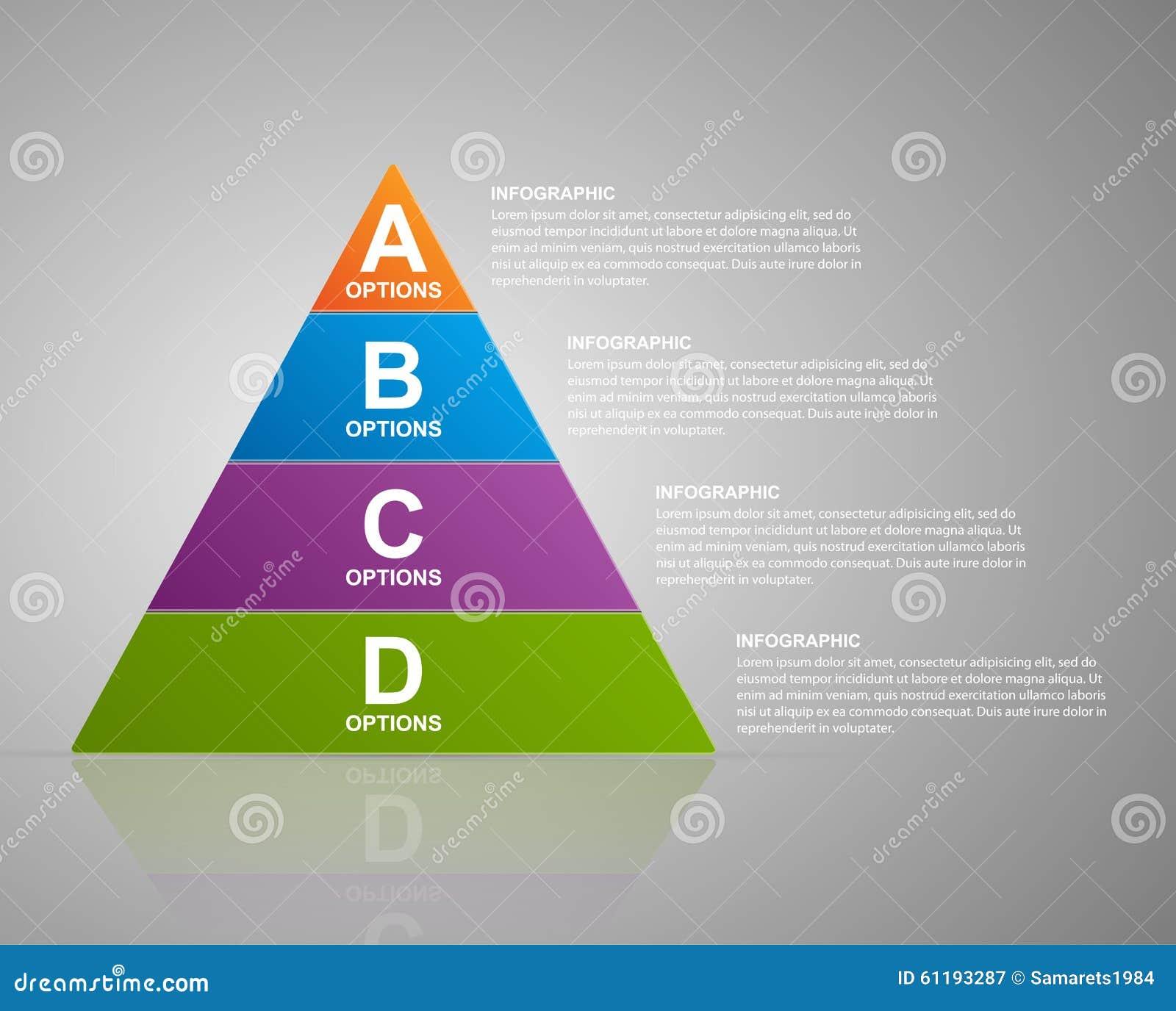Vector Infographic Pyramid. Web Design Template. Stock Vector ...