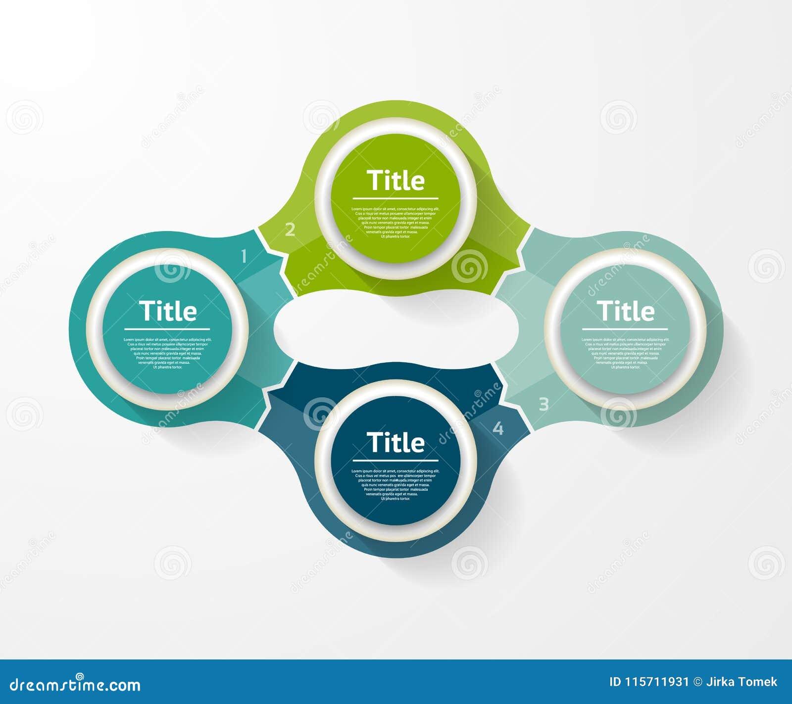Vector infographic Schablone für Diagramm, Diagramm, Darstellung und Diagramm Geschäftskonzept mit 4 Wahlen, Teile, Schritte