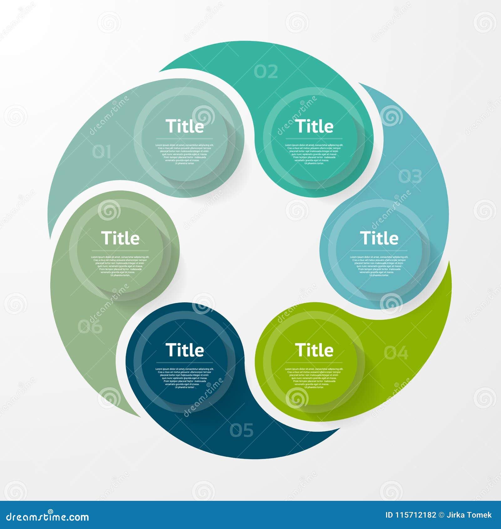 Vector infographic Schablone für Diagramm, Diagramm, Darstellung und Diagramm Geschäftskonzept mit 6 Wahlen, Teile, Schritte
