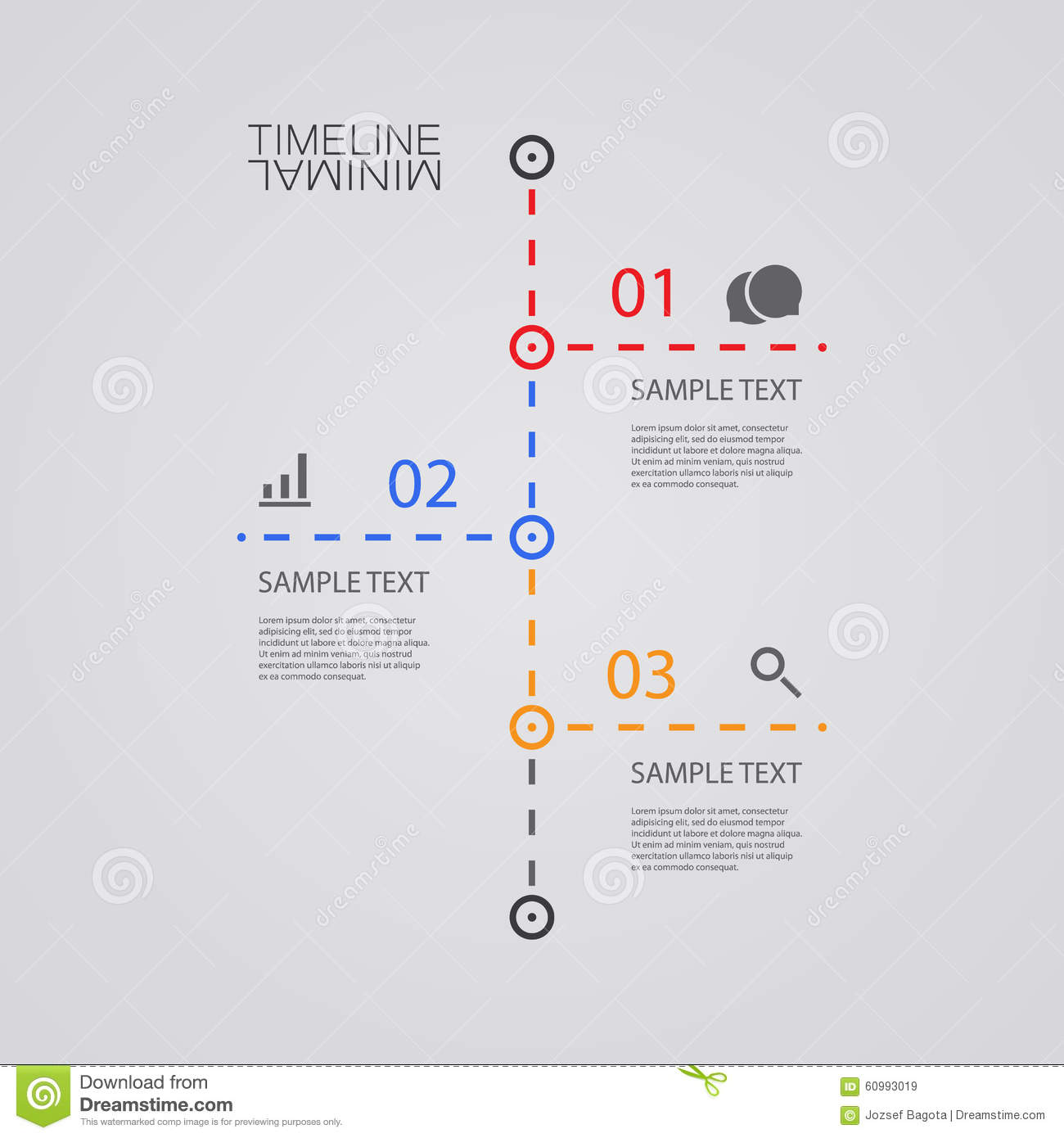 vector infographic timeline report design template stock