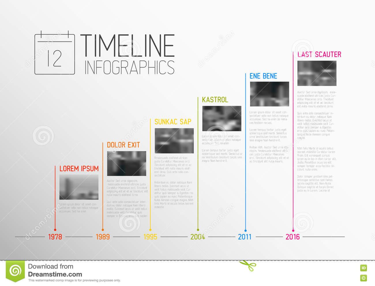 vector infographic typography timeline report template stock vector image 75723367