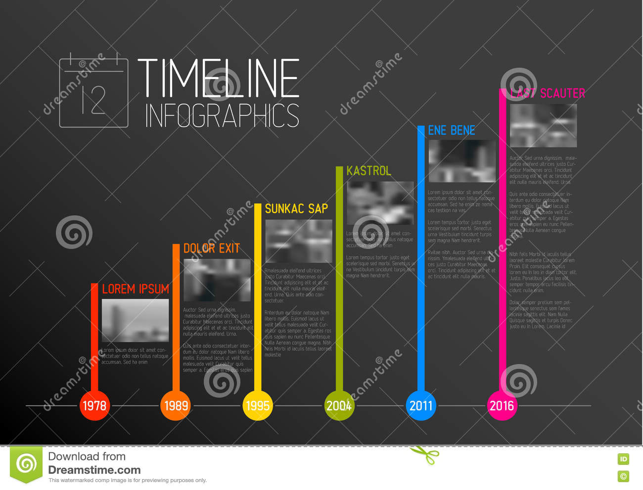 vector infographic typography timeline report template stock vector image 76425811
