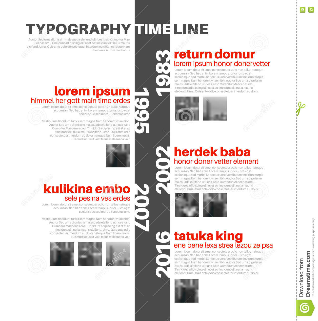 vector infographic typography timeline report template stock vector image 75723323