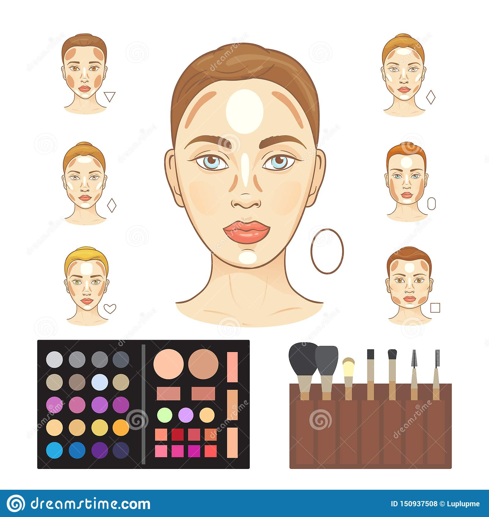 Makeup Zones Stock Illustrations \u2013 12 Makeup Zones Stock