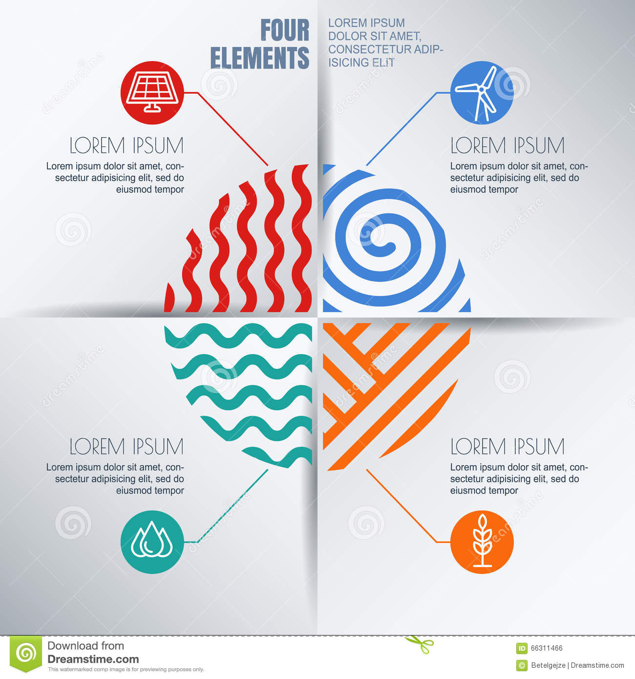 vector infographics design template with four elements