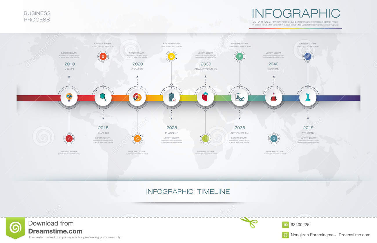 Vector Infographics Timeline Design Template D Paper Label Graph Steps Options Workflow Layout Diagram Infograph on Business Process Workflow Diagram
