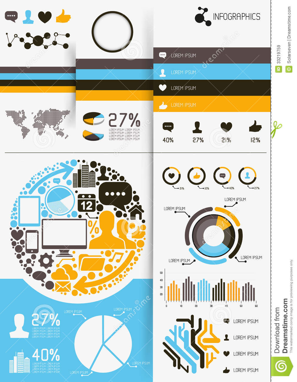 Free vector infographic elements
