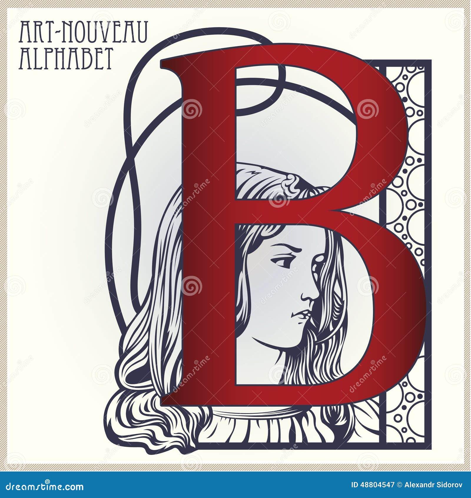 Vector Initial Of English Alphabet Of Art-nouveau Stock Vector ...