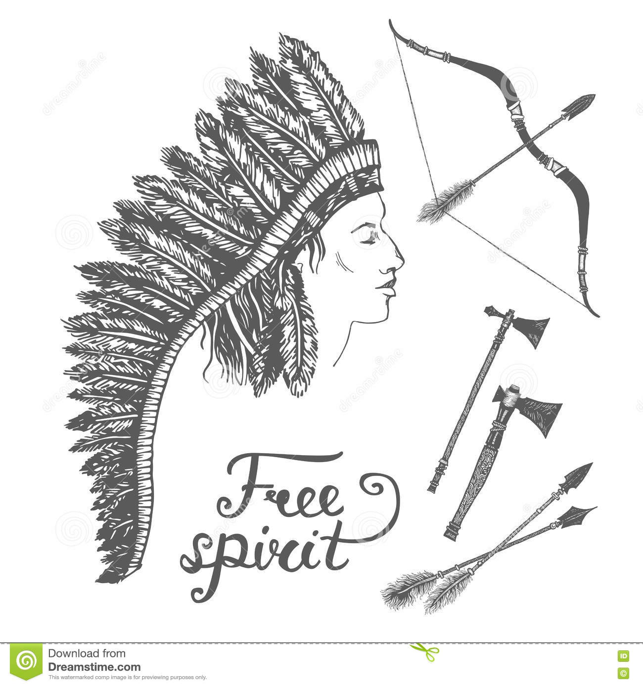 Charming Native American Headdress Template Images - Professional ...