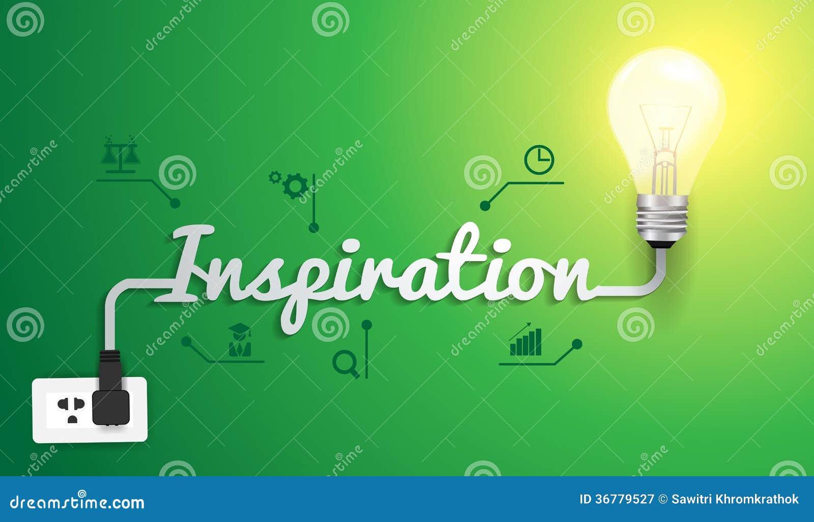 Vector inspiration concept with light bulb idea
