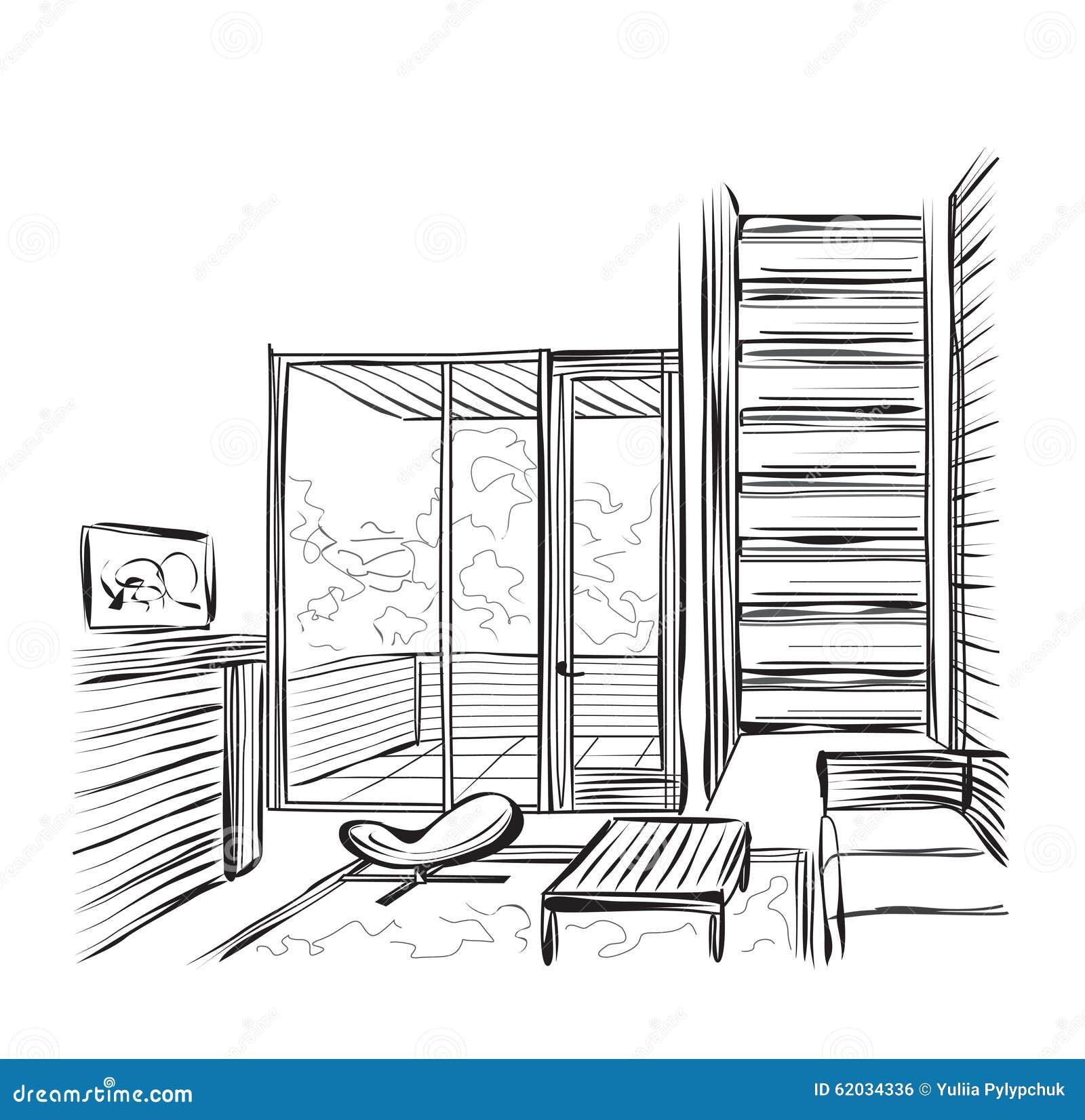Adventure Time Room Sketch Design