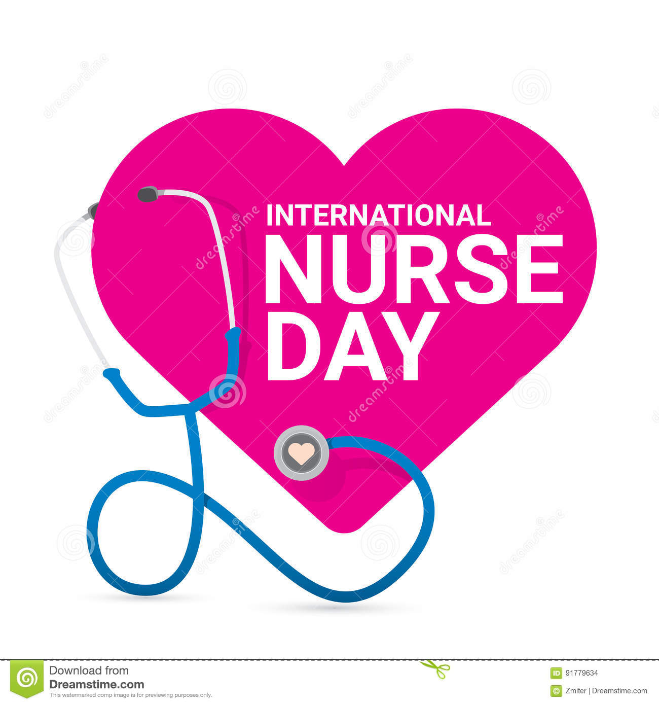 Vector international nurse day vector label