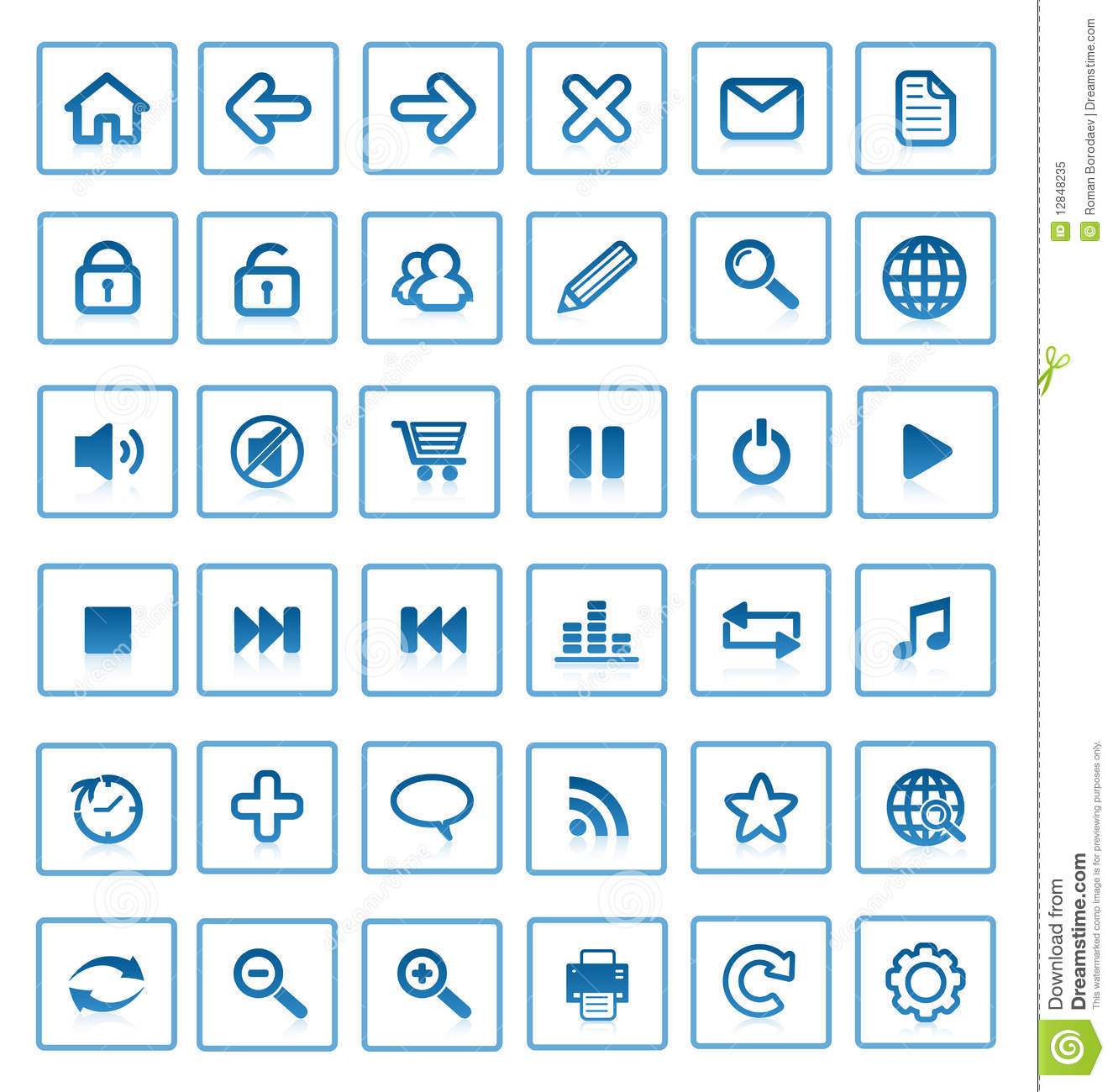 Vector internet icons.