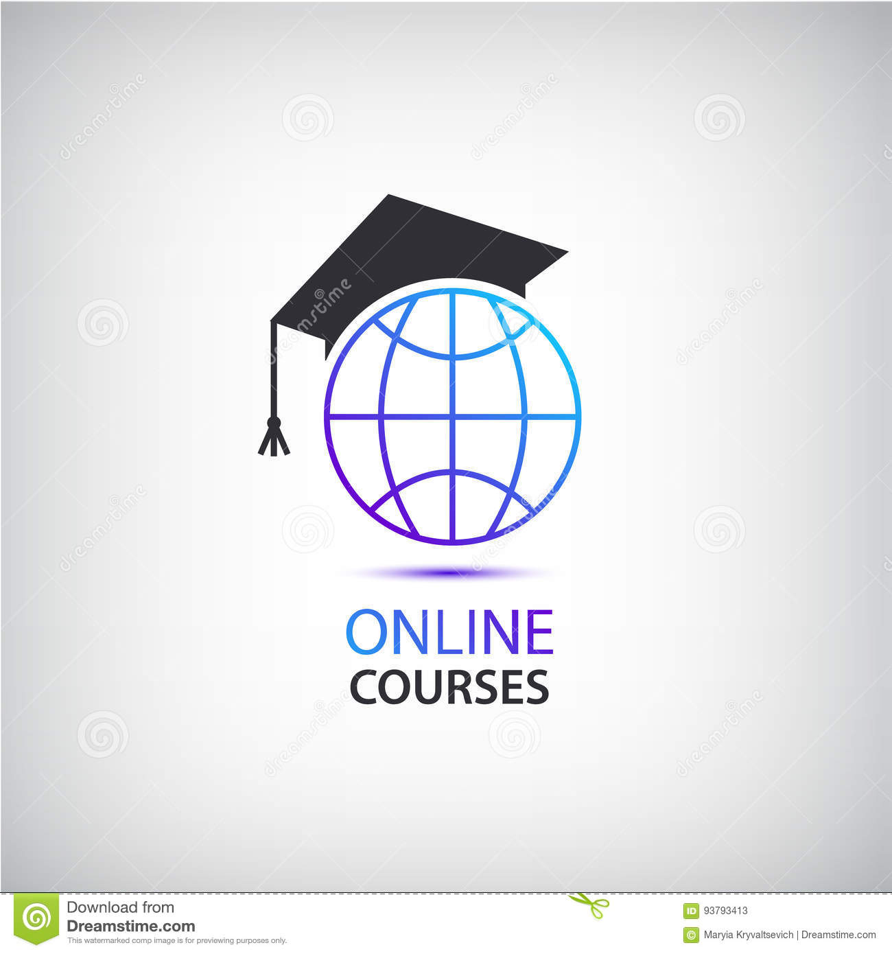 Vector Internet Learning, Teaching, Online Courses Logo ...