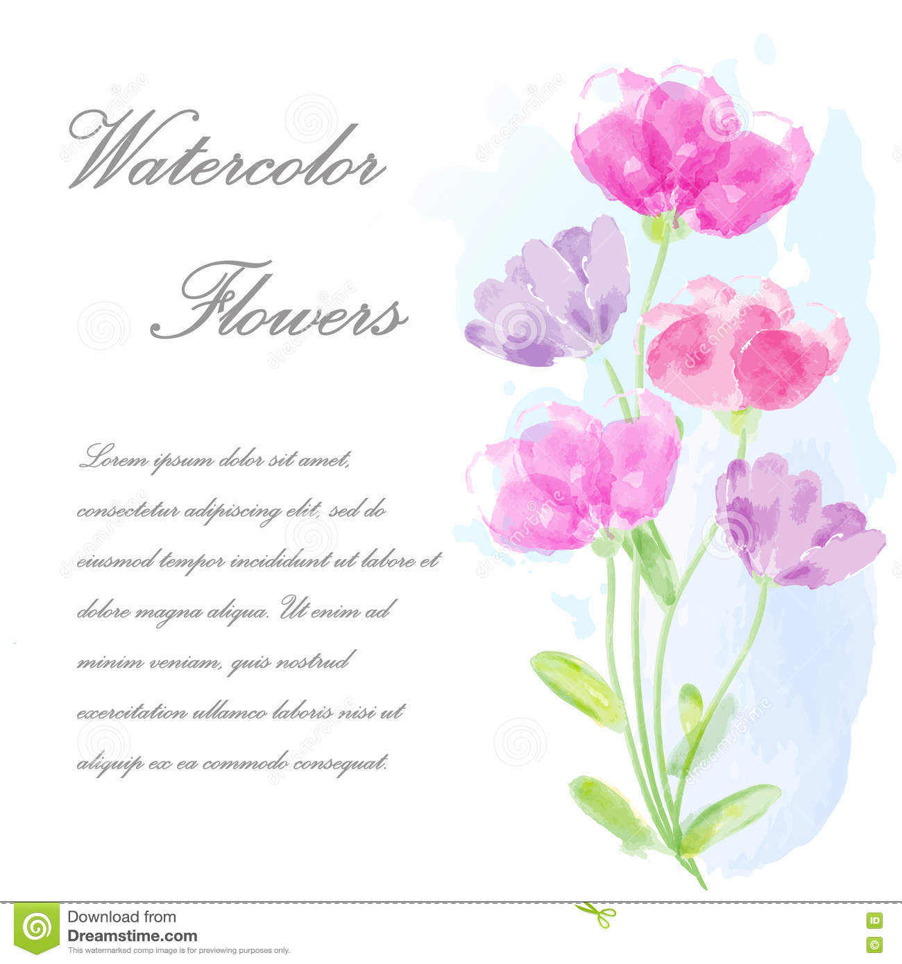 Vector invitation card with flowers for wedding marriage birthday vector invitation card with flowers for wedding marriage birthday valentine s day izmirmasajfo