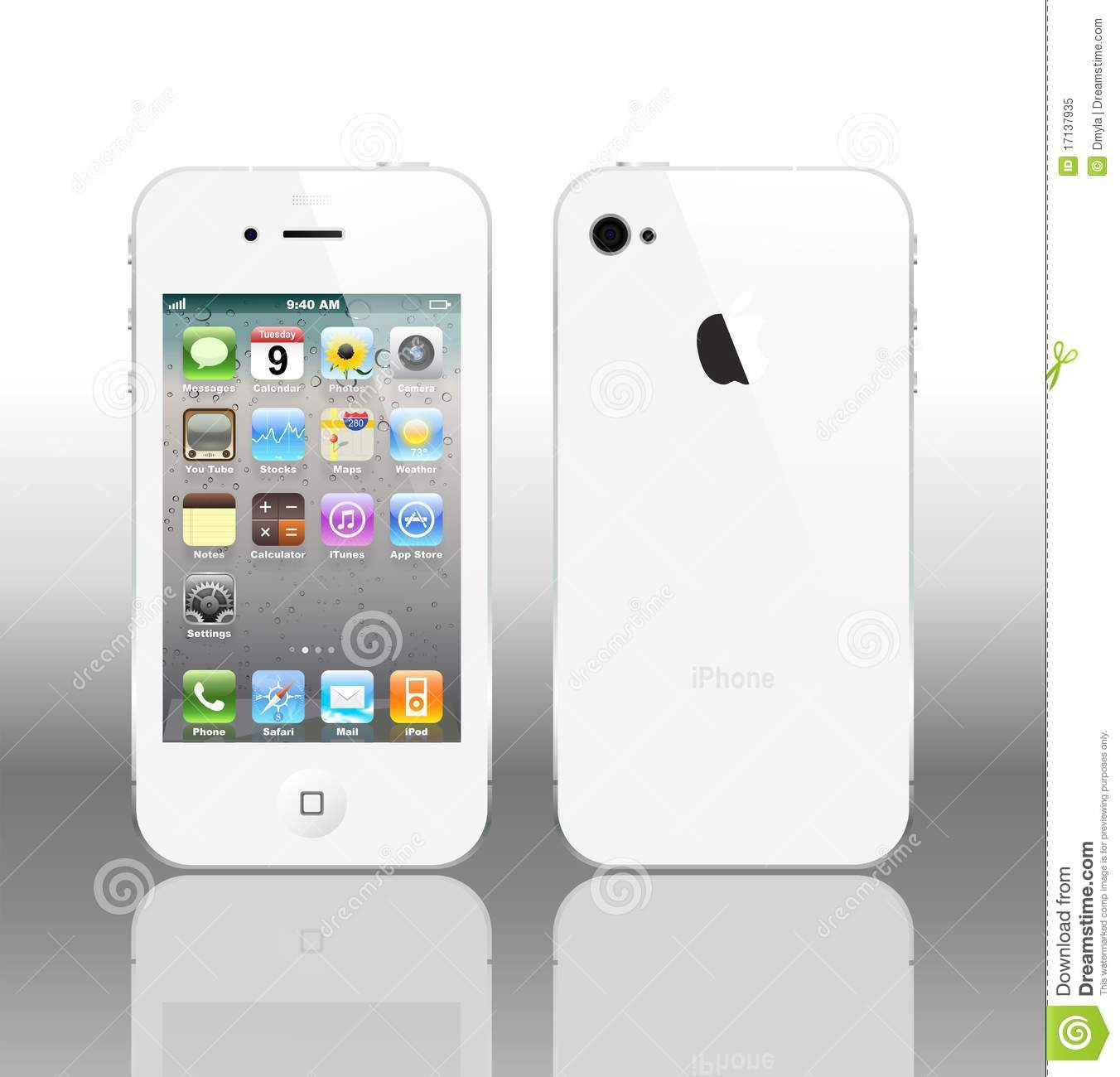 iphone 4 white vector iphone 4 white editorial image image 17137935 10896