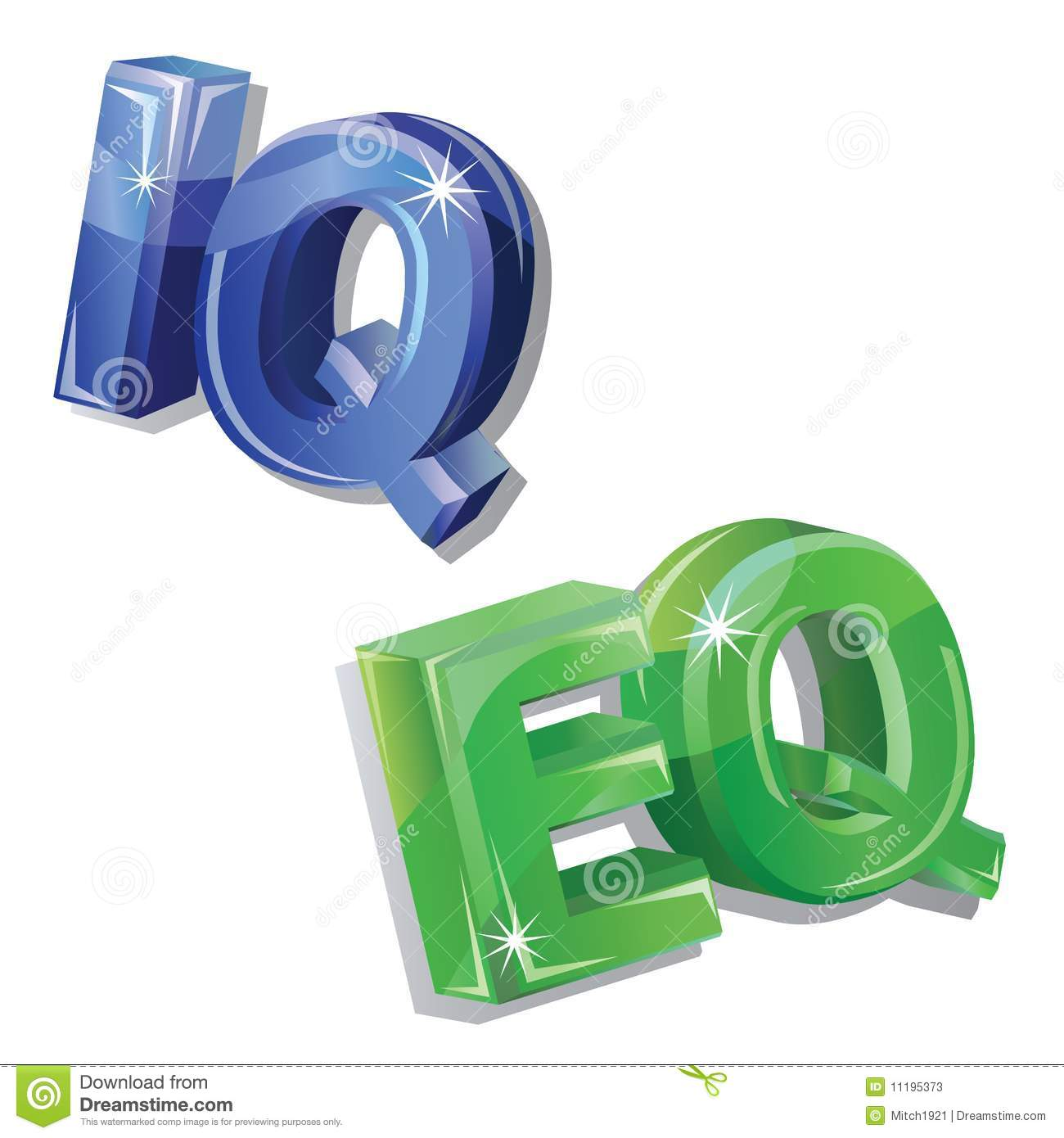 vector iq and eq word stock photos image  vector iq and eq word