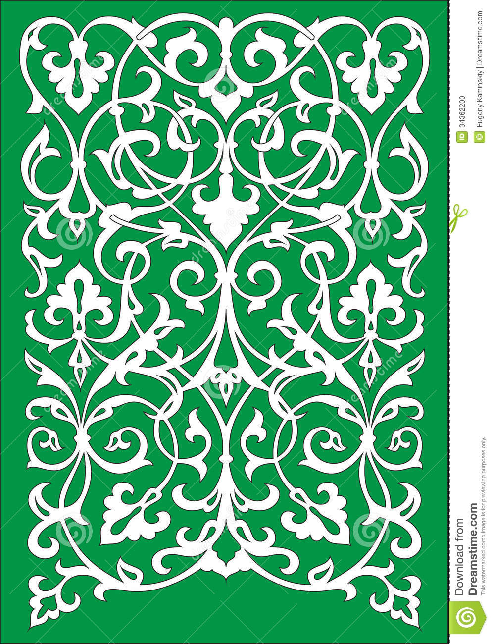 Islamic Floral Pattern Motif Stock Vector - Image: 34362200