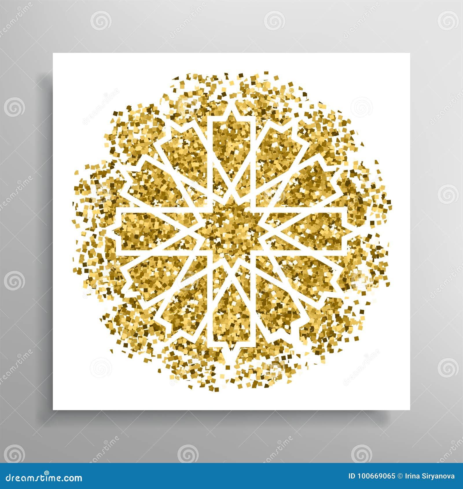 Vector Islamic Golden Pattern Stock Vector Illustration Of