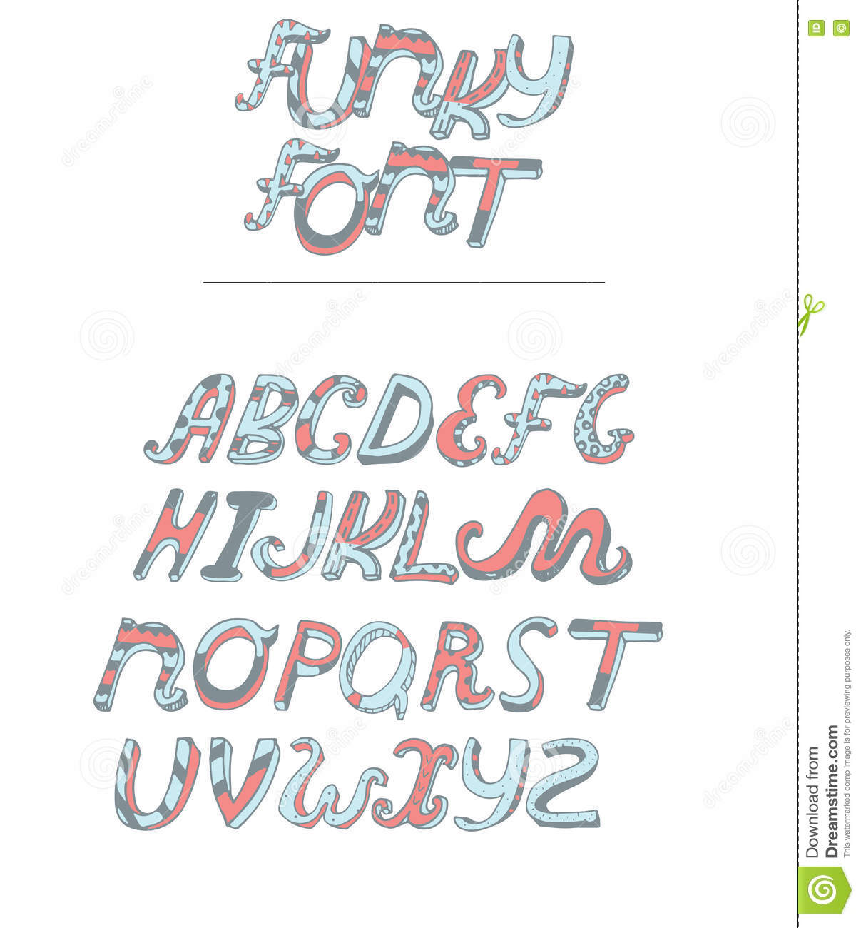 vector isolated on white background hand drawn alphabet from a to z