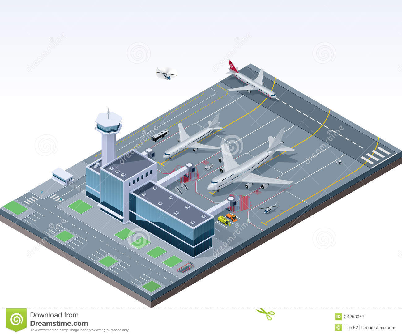 Vector Isometric Airport Stock Vector Image Of Icon