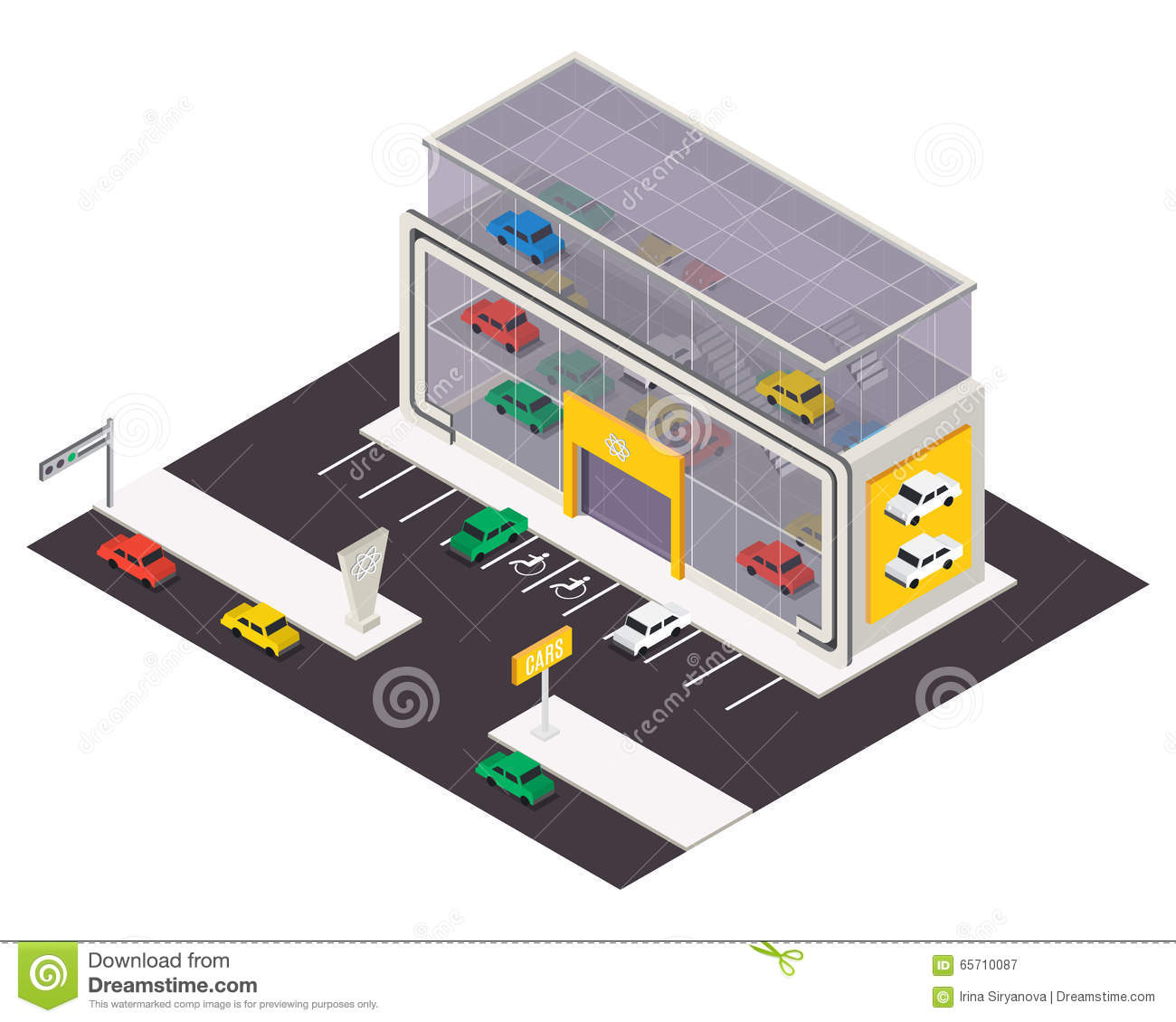 Store Building Glass Icon Stock Illustration