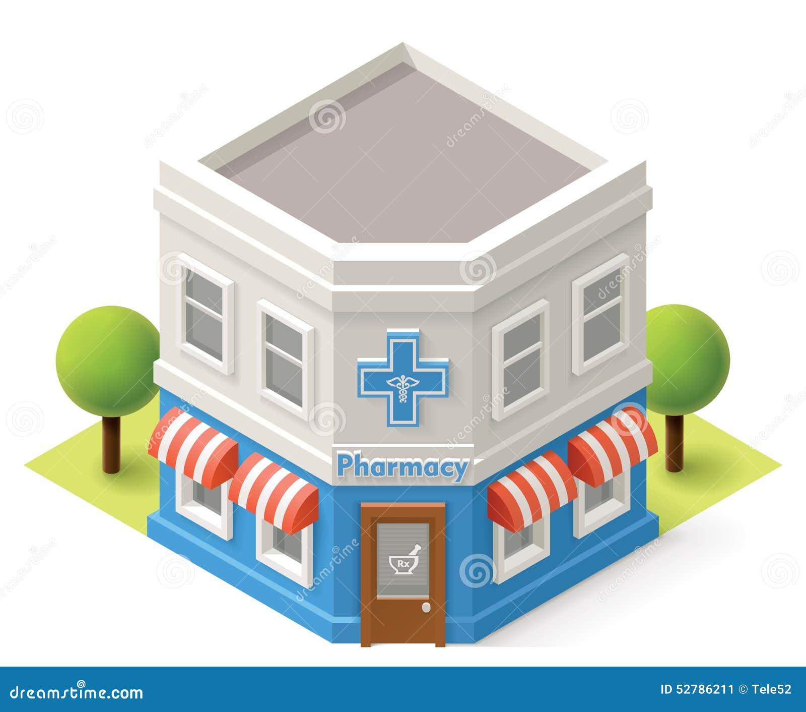 Vector isometric drugstore stock vector. Illustration of ...