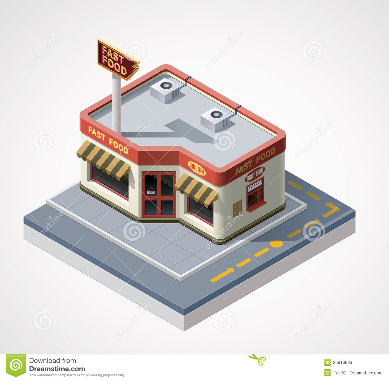 Vector Isometric Fast Food Cafe Stock Photos Image 25916083
