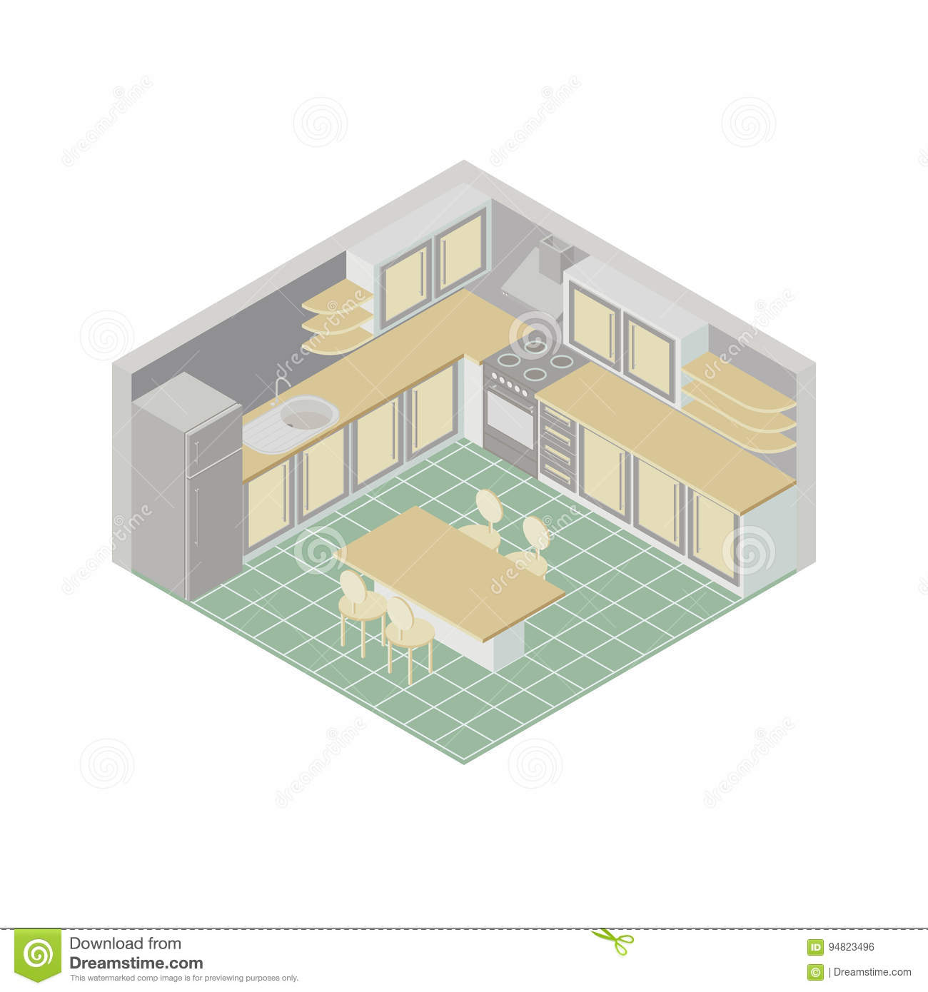 3d Floor Plan Royalty-Free Stock Photography