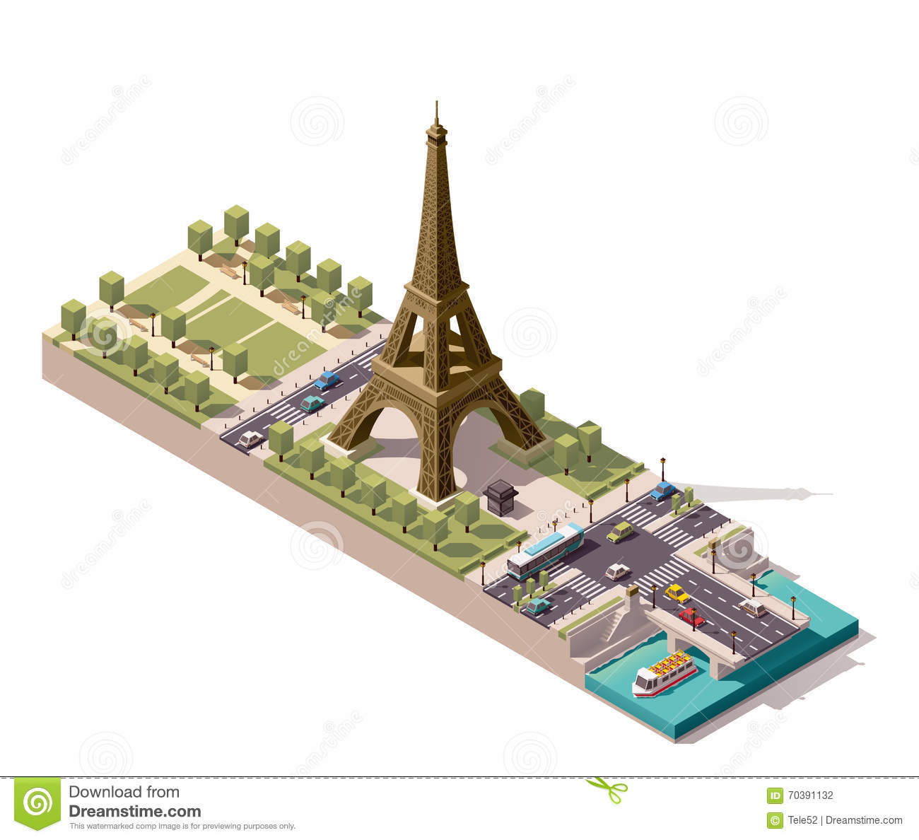 Old paris street map royalty free stock photo image 15885665 - Vector Isometric Map Of The Champ De Mars In Paris Stock Photography