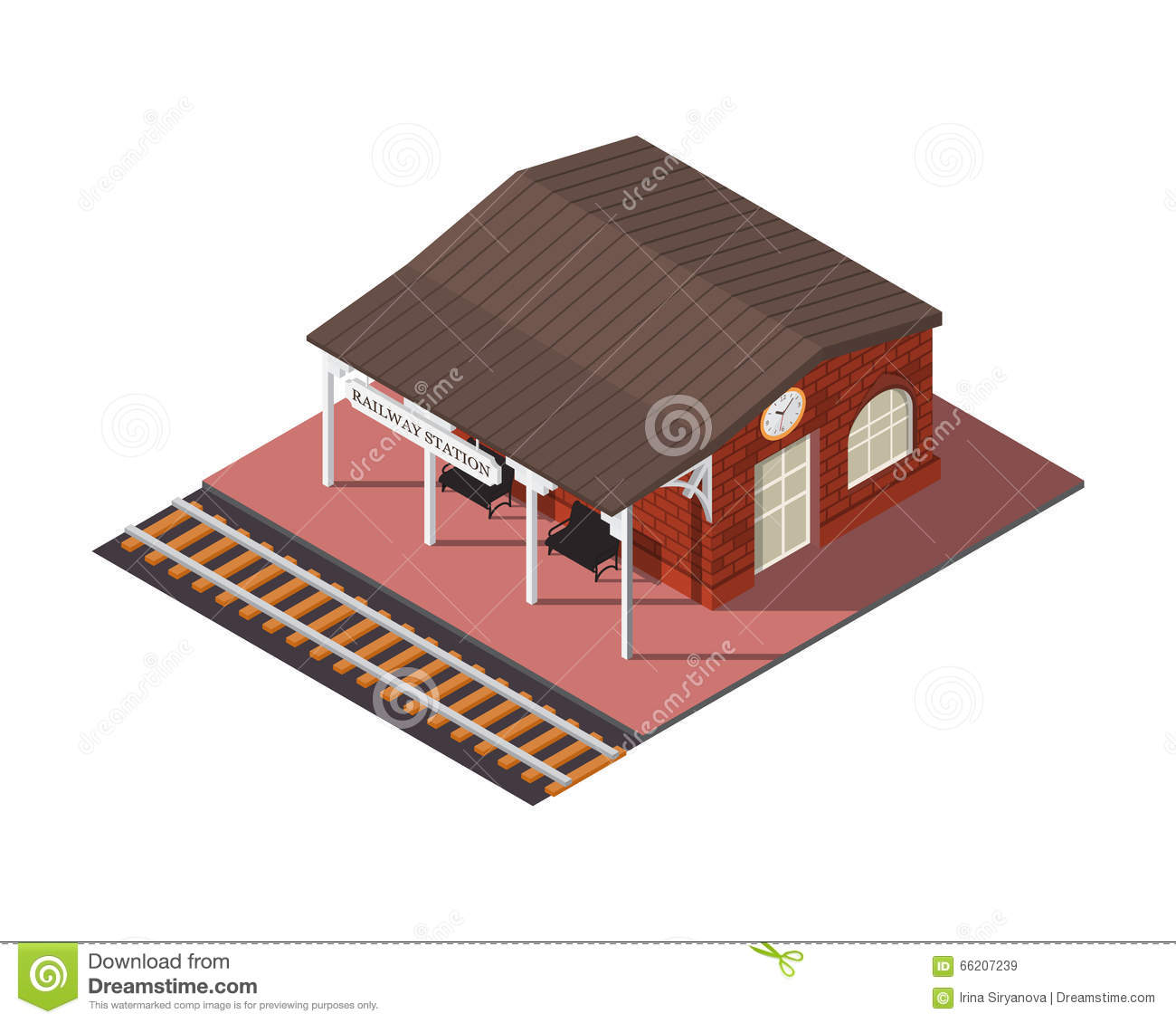 Flat Isometric City Road Model Vector. 3d Building Cartoon ...
