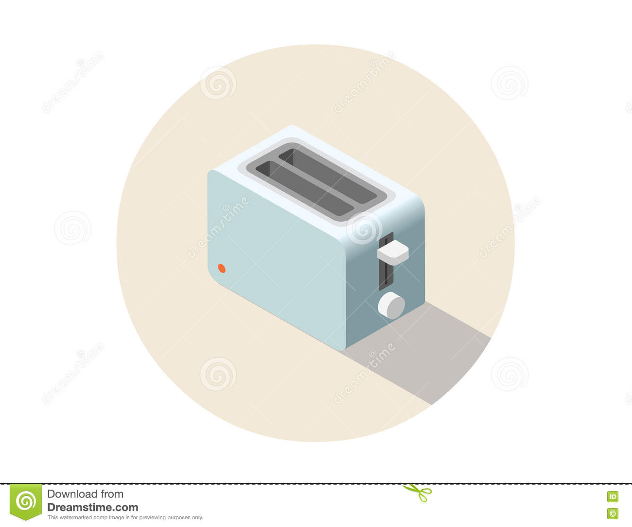 Vector isometric toaster kitchen equipment icon home for Household appliances design